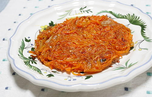 今日のキムチ料理レシピ:人参キムチガレット