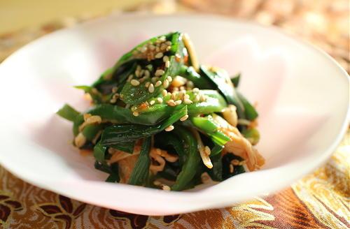 今日のキムチ料理レシピ:ニラとピーマンのピリ辛和え