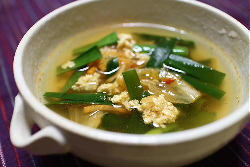 今日のキムチレシピ:ひき肉ニラキムチスープ