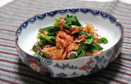 今日のキムチ料理レシピ:にらキムチ和え