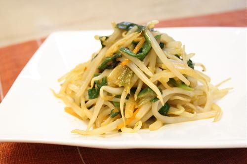 今日のキムチ料理レシピ:にらもやしキムチの甘味噌炒め