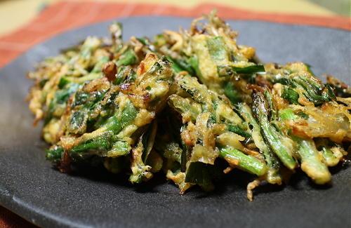 今日のキムチレシピ:にらキムチ天ぷら
