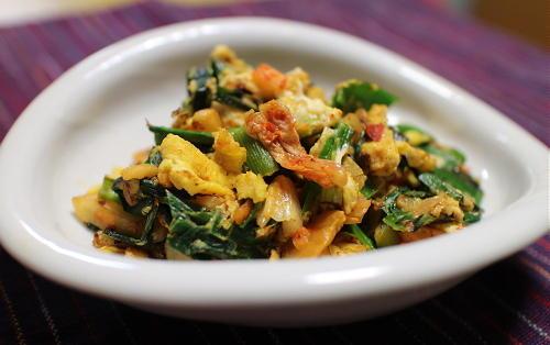今日のキムチレシピ:ニラキムチ卵