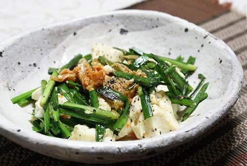 今日のキムチ料理レシピ:豆腐とキムチの塩炒め