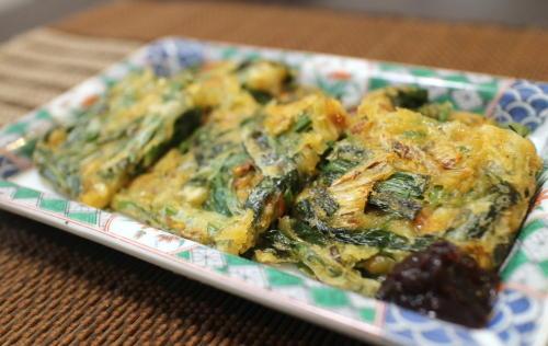 今日のキムチ料理レシピ:にらキムチチヂミ