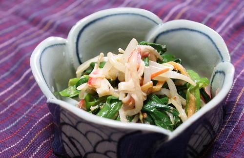 今日のキムチ料理レシピ:にらのピリ辛和え