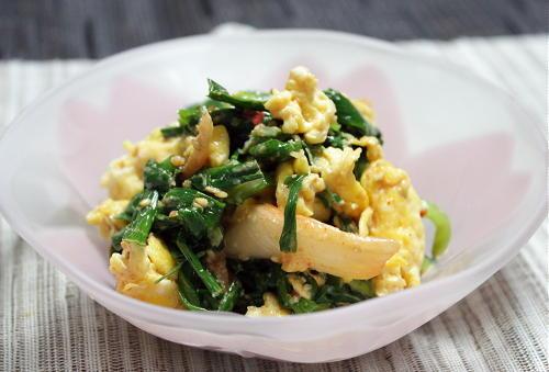今日のキムチ料理レシピ:にらとキムチのごまマヨ和え