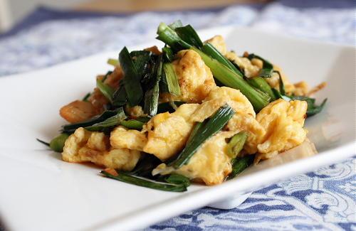 今日のキムチ料理レシピ:にらキムチ卵