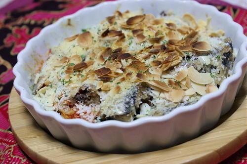 今日のキムチ料理レシピ:オイルサーディンとキムチのパン粉焼き
