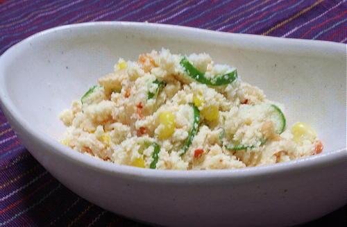 今日のキムチ料理レシピ:おからキムチサラダ