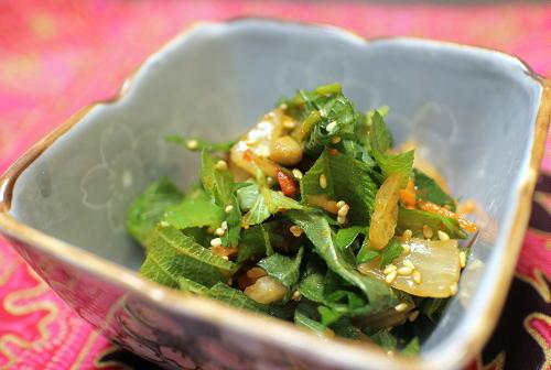 今日のキムチレシピ:大葉のキムチ和え