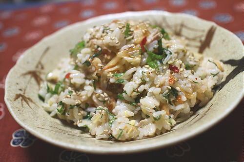 今日のキムチレシピ:ツナとキムチのサラダご飯