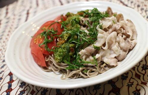 今日のキムチ料理レシピ:ピリ辛おろしきゅうりそば