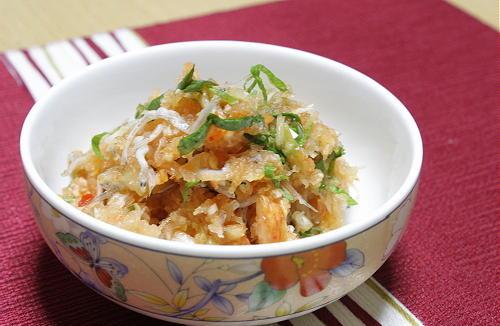 今日のキムチ料理レシピ:キムチおろしじゃこ