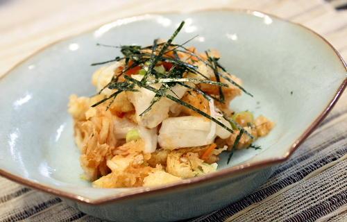 今日のキムチ料理レシピ:焼き餅のキムチおろし和え