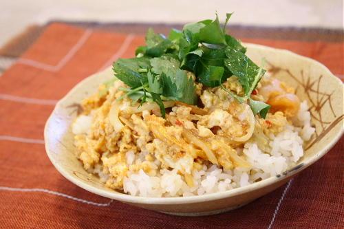 今日のキムチ料理レシピ:ちっちゃな親のキムチ親子丼