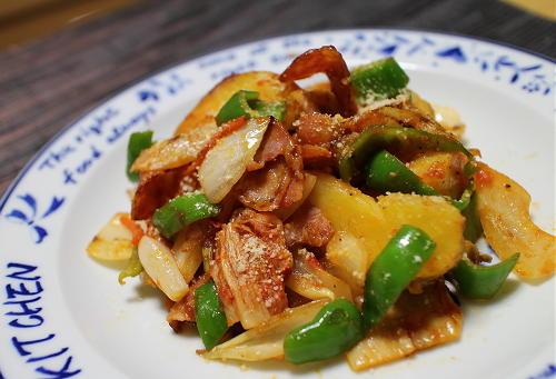 今日のキムチ料理レシピ: ピリ辛ジャーマンポテト