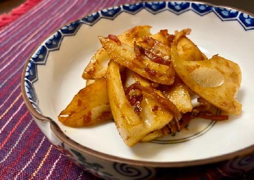 今日のキムチ料理レシピ:ピリ辛レンコン