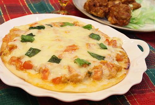 トマトとツナのキムチピザレシピ