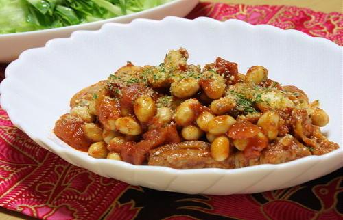 今日のキムチ料理レシピ:キムチポークビーンズ