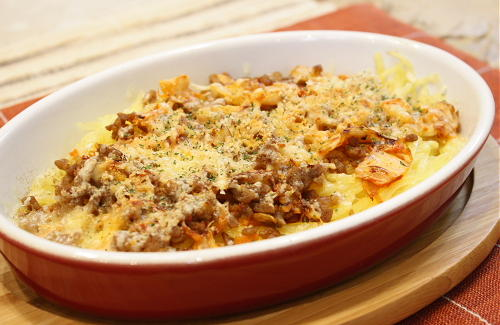 今日のキムチ料理レシピ:じゃがいものキムチひき肉焼き