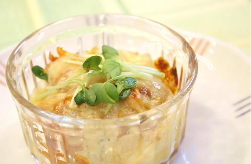 今日のキムチ料理レシピ:ジャガイモの味噌キムチ焼き