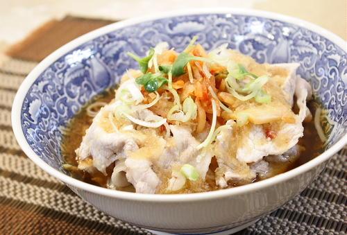 今日のキムチ料理レシピ:冷しゃぶキムチそうめん