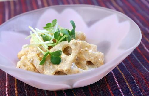 レンコンのピリ辛胡麻和えレシピ