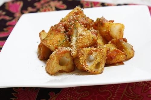 レンコンと長芋の辛味噌炒めレシピ