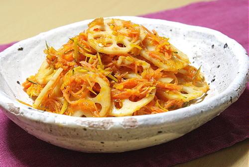 レンコンとかぼちゃのピリ辛サラダレシピ