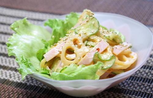 レンコンのピリ辛サラダレシピ