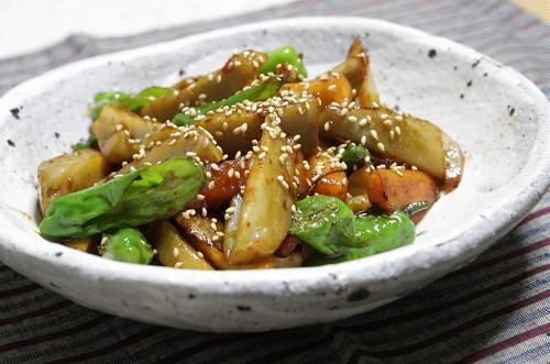 大根キムチとレンコンの甘辛炒めレシピ