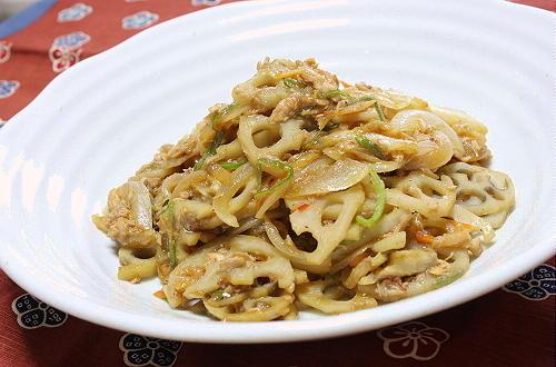 今日のキムチ料理レシピ:レンコンのツナキムチ煮