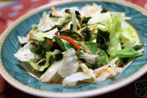 レタスのピリ辛甘酢和えレシピ