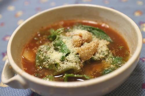 今日のキムチレシピ:レタスのキムチスープ