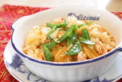 今日のキムチ料理レシピ:キムチリゾット