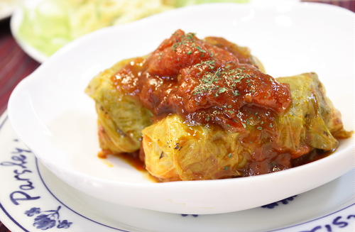 今日のキムチ料理レシピ:キムチロールキャベツ