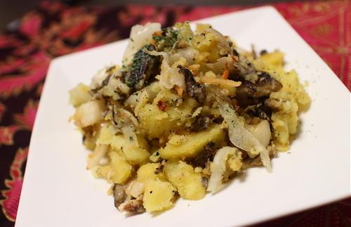 今日のキムチレシピ:オイルサーディンとキムチのポテトサラダ