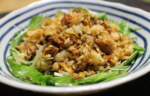 今日のキムチレシピ:サバキムチチャーハン
