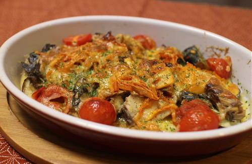 今日のキムチ料理レシピ:サバ缶とキムチのチーズ焼き