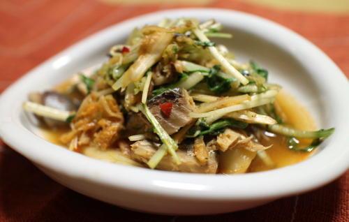 今日のキムチレシピ:サバとキムチの生姜煮