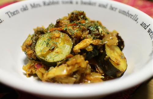 今日のキムチレシピ:サバとズッキーニのキムチカレー