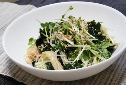 今日のキムチ料理レシピ:キムチサラダ素麺