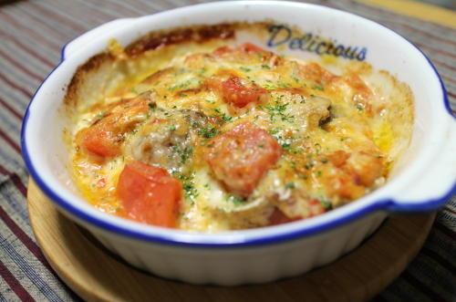 今日のキムチ料理レシピ:秋刀魚とキムチのチーズ焼き