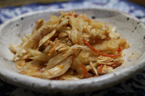 今日のキムチレシピ:ささみとセロリのキムチ和え