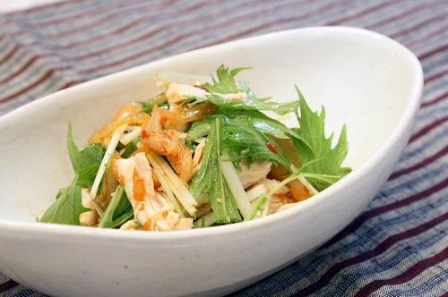 今日のキムチ料理レシピ:ささみとキムチのポン酢和え