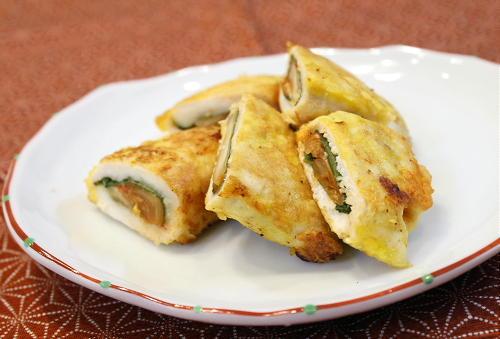 今日のキムチ料理レシピ:ササミとキムチのピカタ