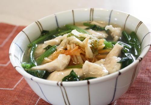 今日のキムチ料理レシピ:ささみとキムチのスープご飯