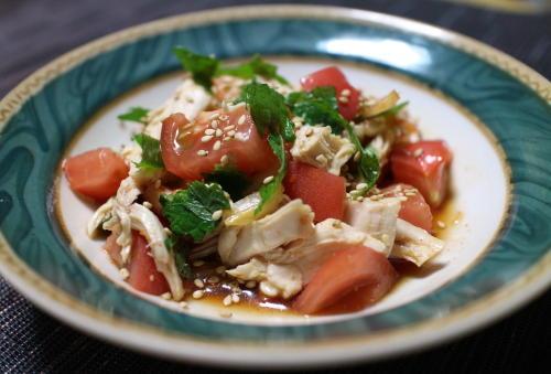 今日のキムチ料理レシピ:ささみとトマトのキムチ和え