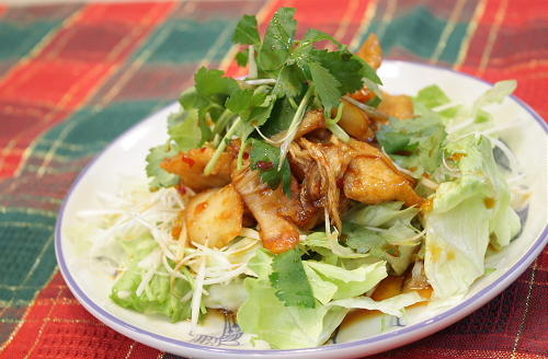今日のキムチ料理レシピ:ササミのキムチダレ